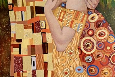 The Kiss (After Klimt)