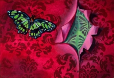 Butterfly Erotica | Oil On Board |