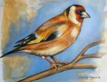 European Goldfinch | Oil On Canvas Paper | SOLD
