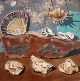 Seaside Salvage | Acrylic on Board | 47cm x 47cm