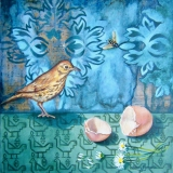 The Birds and the Bees | Oil On Board | SOLD