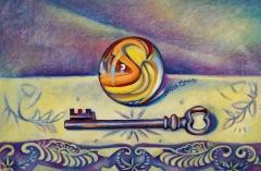 Unlocked Childhood | Oil on Board |