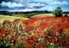 Poppy Field | Pastel | SOLD